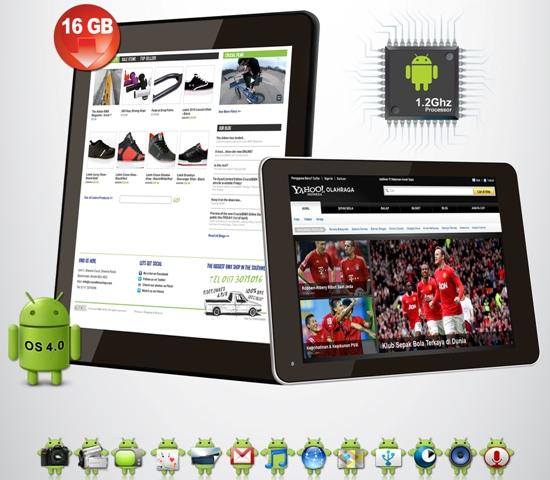 merupakan tablet Android perdana dari Skycall Mobile Skycall T200: Android ICS dengan Prosesor Tangguh dan Memori 16 GB