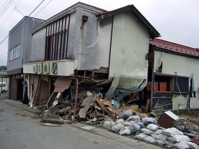 東日本大震災,沖田商店,石巻市〈著作権フリー無料画像〉Free Stock Photos