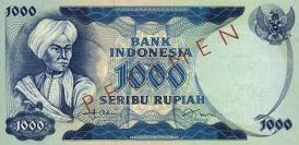 1000 rupiah diponegoro