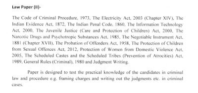 Rajasthan High Court Civil Judge Law Paper II