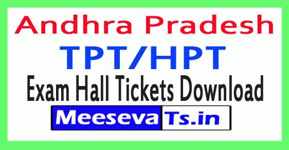 AP TPT/HPT Exam Hall Tickets Download