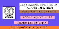West Bengal Power Development Corporation Limited Recruitment 2017– 14 Medical Officer