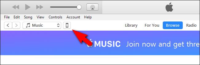 Crea un nuovo profilo in iTunes per questo telefono