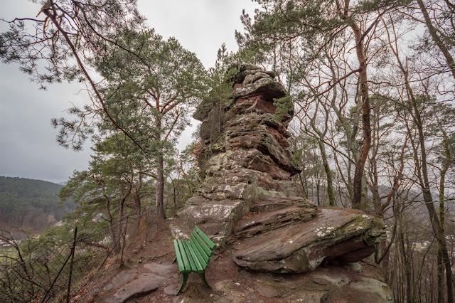 Felsenland Dahn  Wanderung Burgruine Altdahn – Jungfernsprung 10