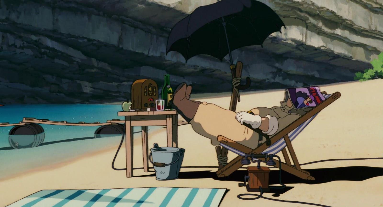 Kadr z filmu Szkarłatny Pilot, Porco Rosso