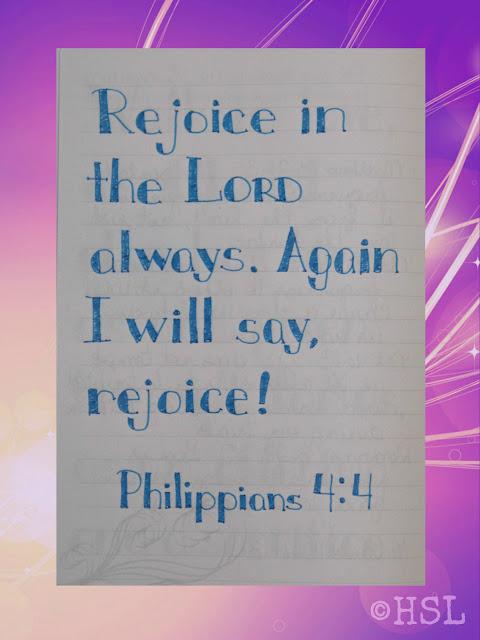 Philippians 4:4, Scripture Writing