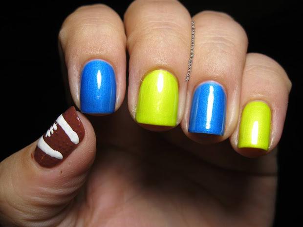 college football nail art - polish