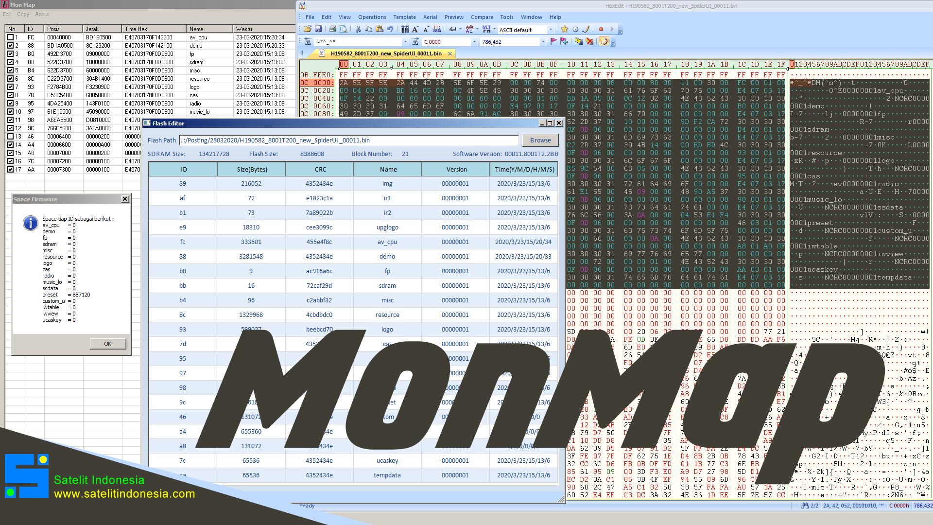 MonMap Software Untuk Membaca NCRC Map Firmware Montage