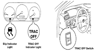 Switch dan lampu indicator TRAC