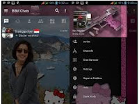 BBM Mod Change Background with Hello Kitty Pink (Dark Style) APK