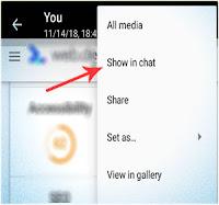 """Cara Menggunakan Fitur """"Show in chat"""" WhatsApp"""