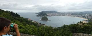 San Sebastián. Vistas desde el Monte Igueldo.