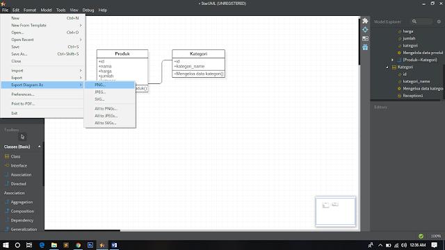 Cara membuat class diagram menggunakan starUML