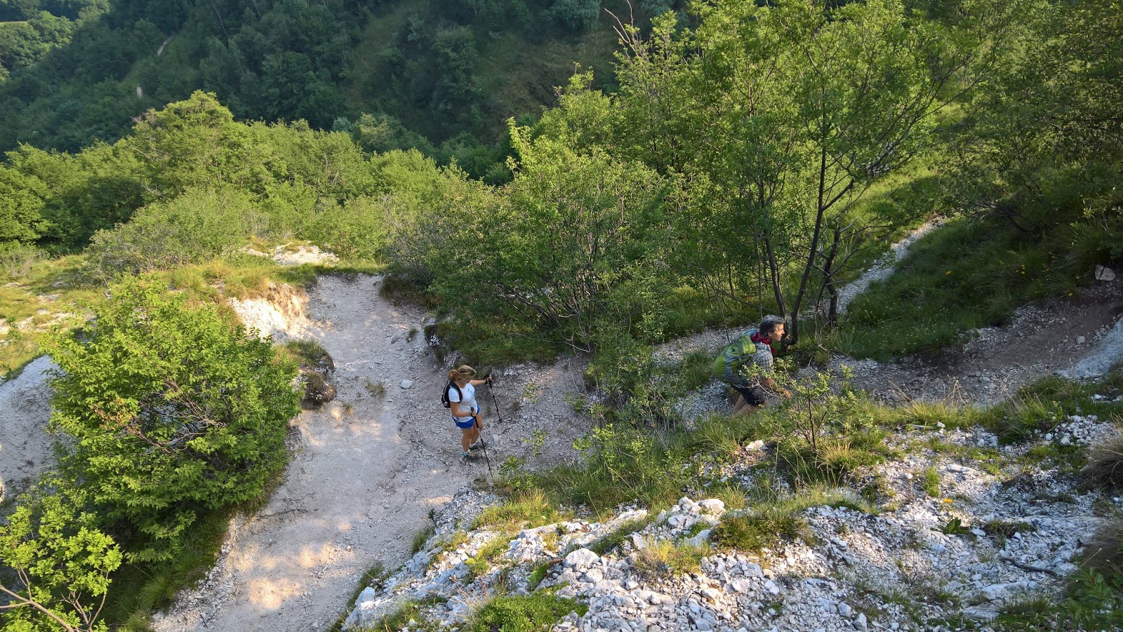 Trail 533 - A steep part between Monte di Nese and Salmezza.