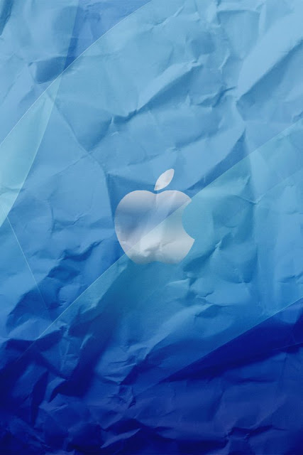 Crumpled Apple Logo iPhone Wallpaper By TipTechNews.com