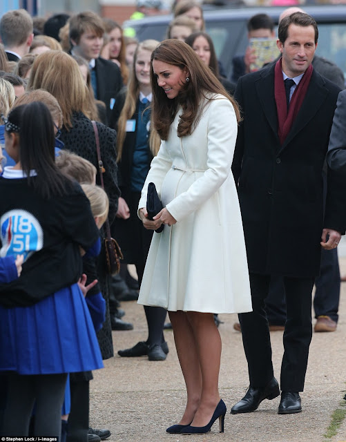 Kate Middleton visits Portsmouth Kate wore Max Mara Coat