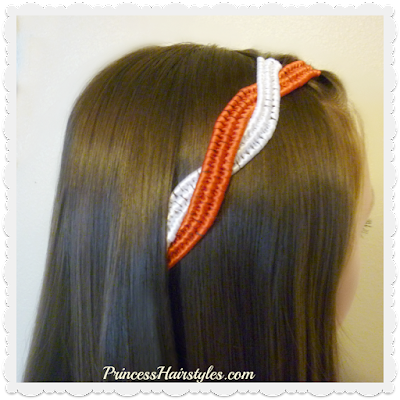 4th of July Hairstyle Tutorial. Infinity Braid Ribbon Twist. #fourthofjuly