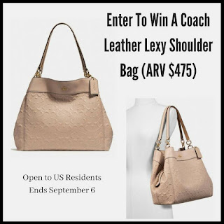 Enter the Coach Leather Lexy Shoulder Bag Giveaway. Ends 9/6 US only