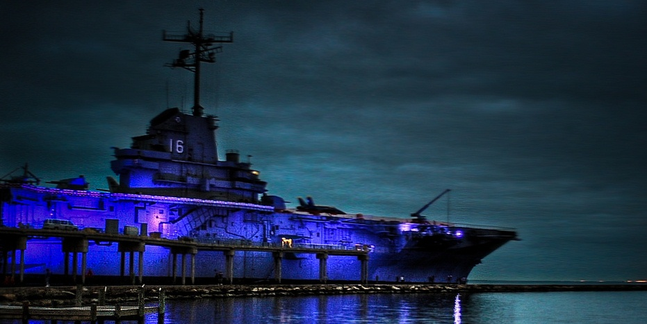the midnight freemasons uss lexington the blue ghost serves as a