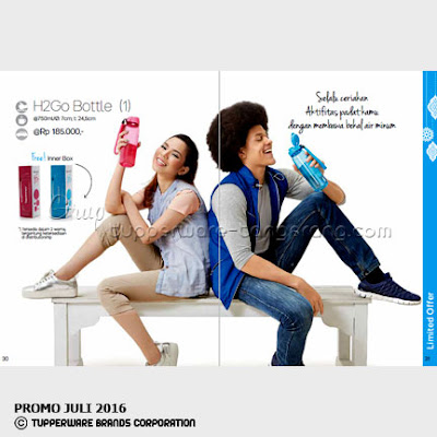 H2Go Bottle ~ Katalog Tupperware Promo Juli 2016