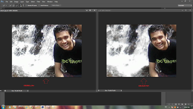 Hasil edit foto di photoshop