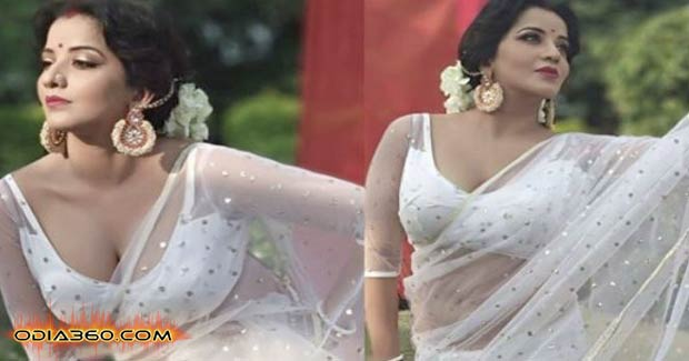 Odia Actress Monalisa's Hot Dance In White Saree Will blow your mind, Watch