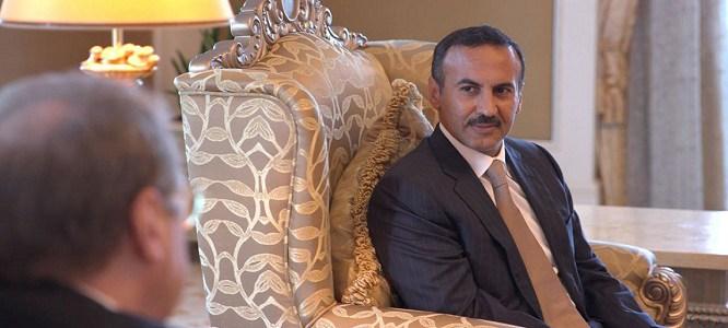 خطاب احمد علي عبدالله صالح منذ مقتل والده