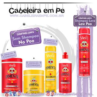 Shampoo (Low Poo), Condicionador, Creme para Pentear, Máscara e Hidratação (Liberados para No Poo)