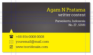 Cara Desain Kartu Nama Menggunakan CorelDRAW (Business Card)bagian belakang5