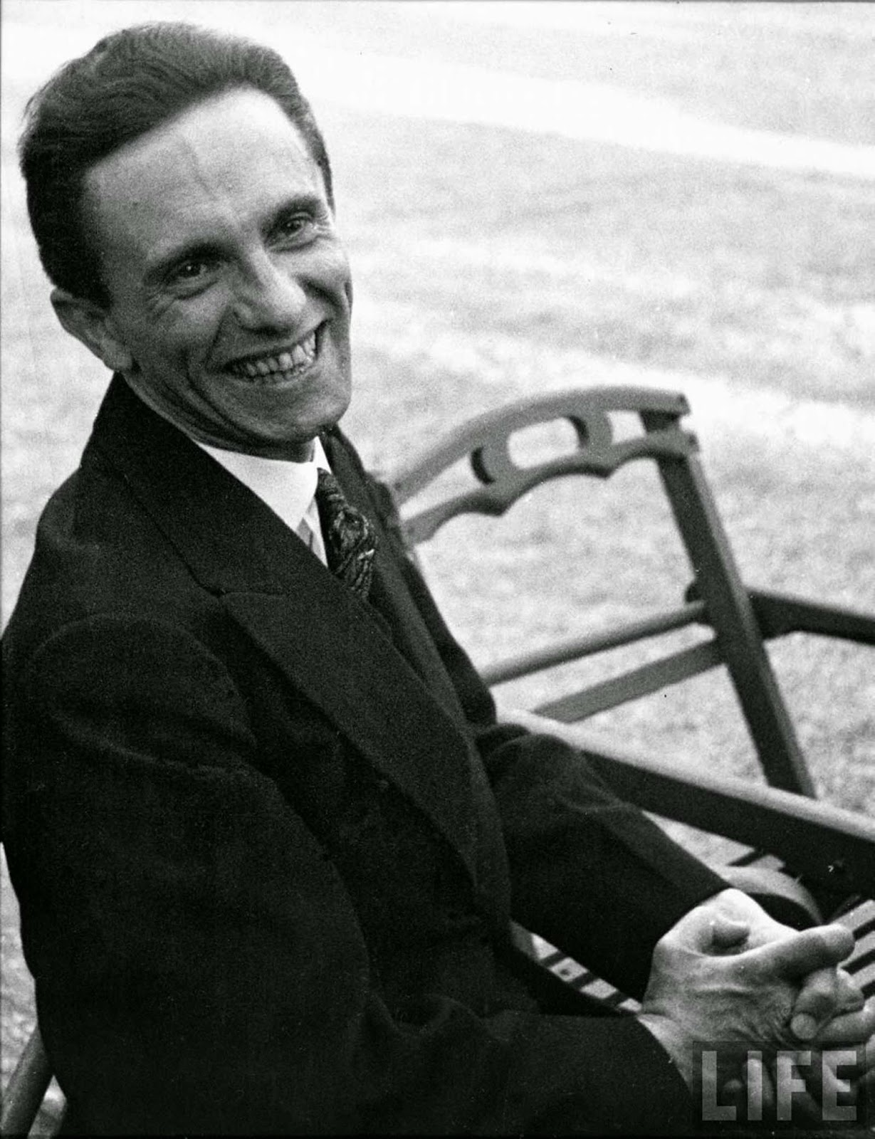 At first, Goebbels indulged Eisenstaedt with a few photographs, showing him in a much more pleasant, if not jovial mood.
