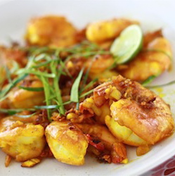 Turmeric prawns shrimp golden delicious malaysian recipes seasonwithspice