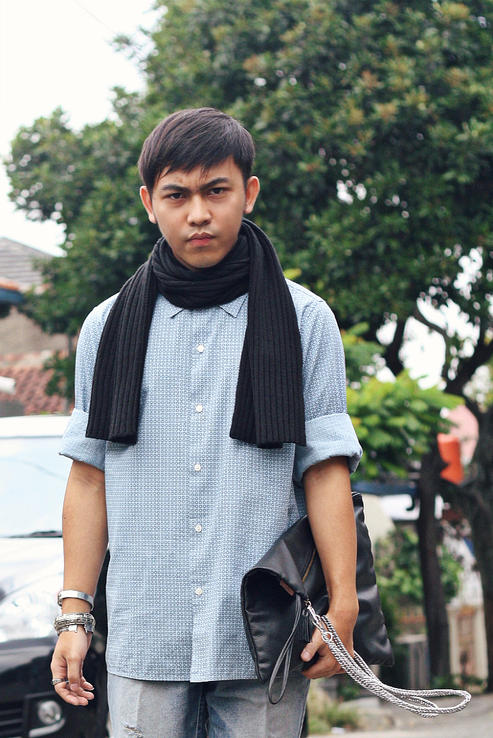 MEN'S FASHION BLOGGER INDONESIA IN MARC JACOBS SHIRT