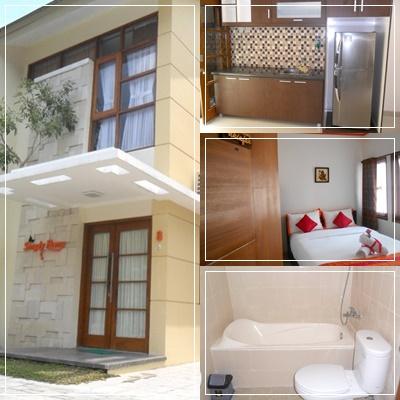 Rumah Disewakan Harian Murah Di Jogja Dekat Alun Kidul Guest House Dengan Fasilitas Perabotan Lengkap Full Furnish 3 Kamar Tidur AC Bisa