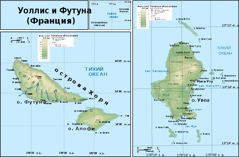 Mapas das Ilhas Wallis e Futuna | França