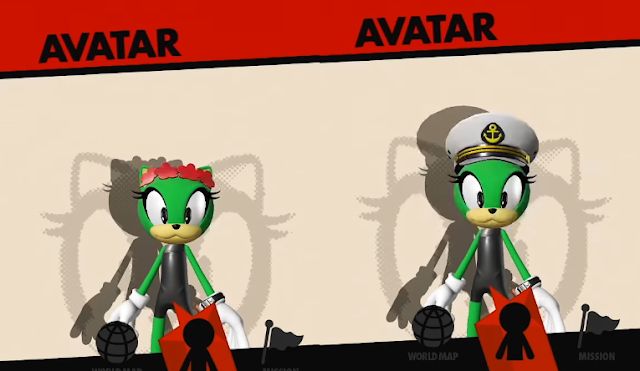 Sonic Forces custom hero headgear avatar dress-up pink flowers captain's sailor's hat ideas
