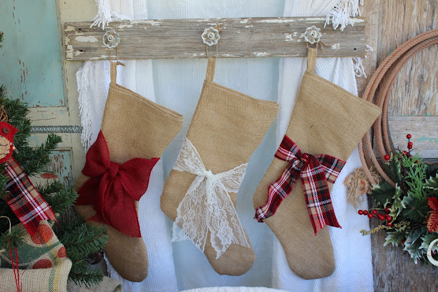 rustic burlap stockings