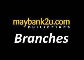 List of Maybank Branches/ATM Locators