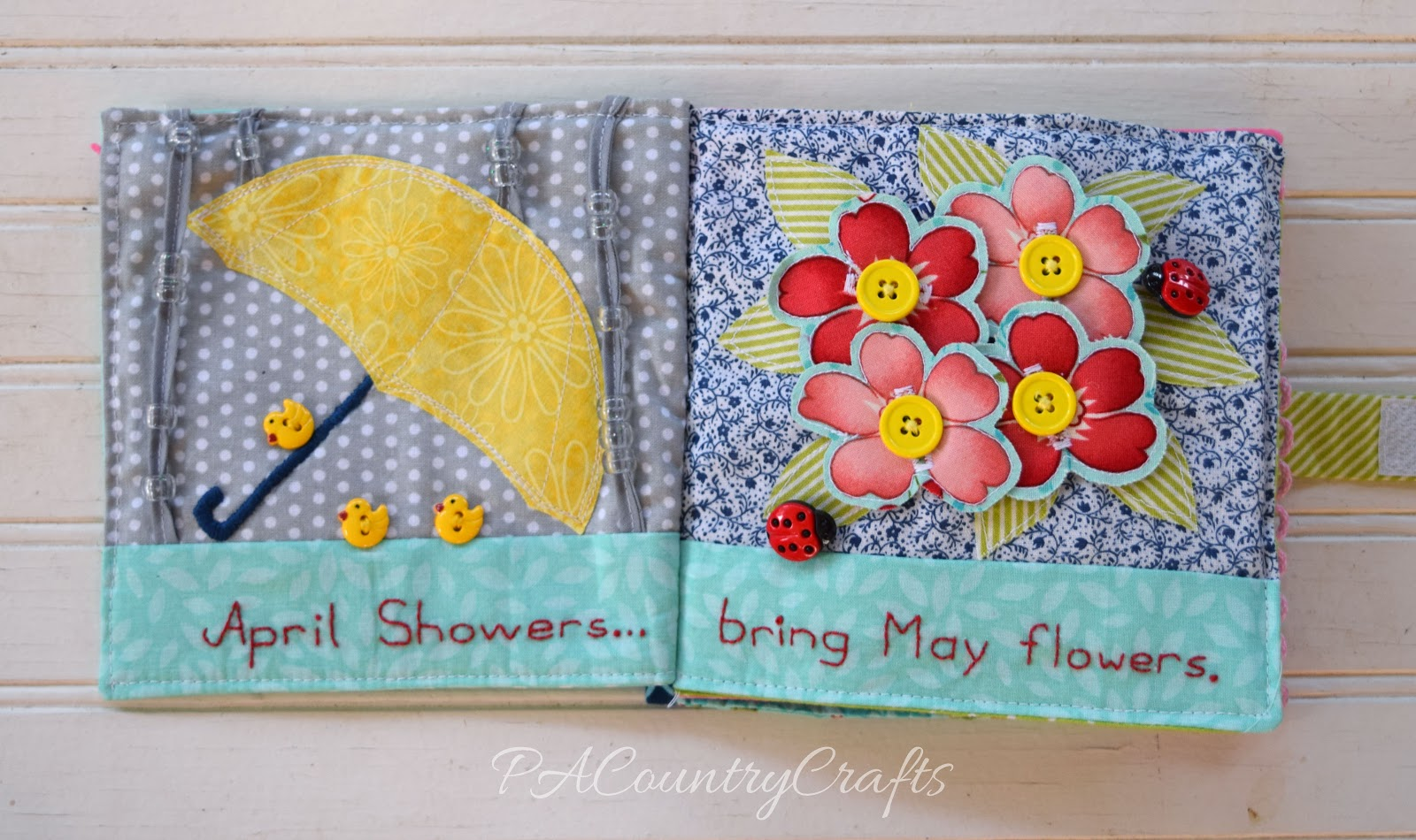 Umbrella And Flowers Quiet Book Pages Pacountrycrafts