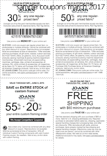 Joann coupons for march 2017