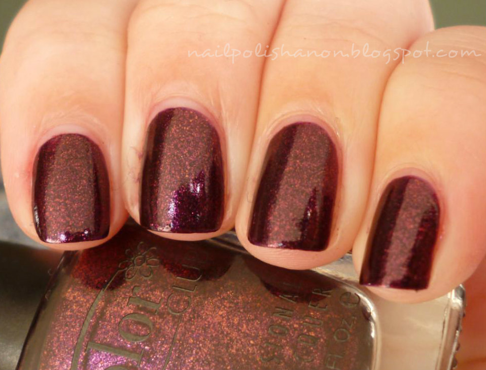 Color Club - Winter Affair - Purple Plum Wine Flakey ...