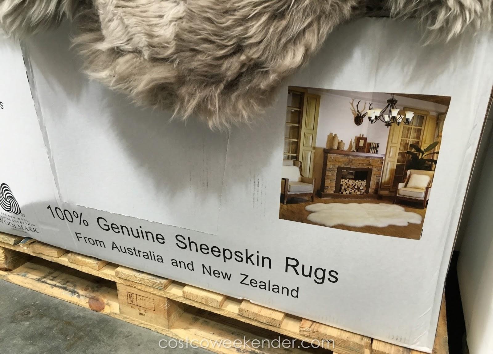 Woolmark Quad Area Genuine Sheepskin Rug Costco Weekender