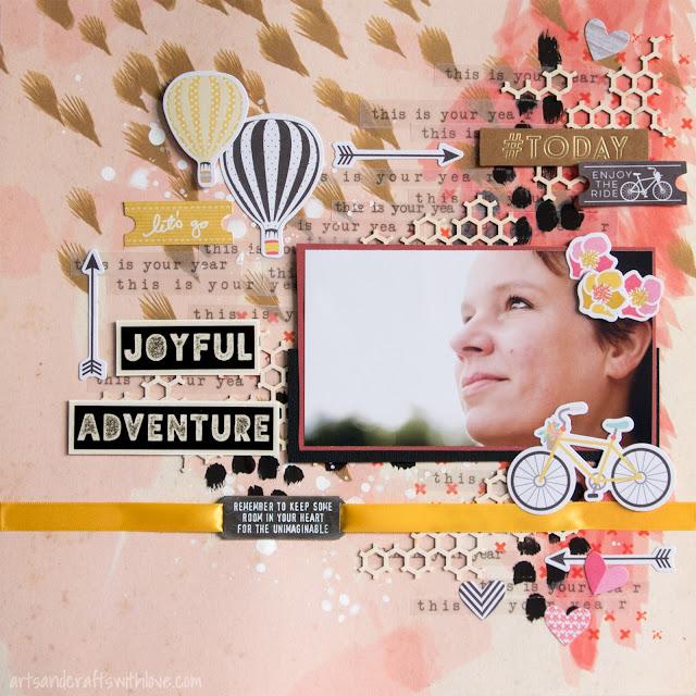 Jehkotar CRAFTChallenge sketch: Joyful adventure