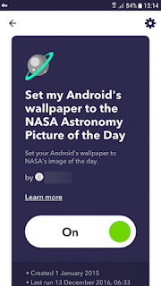 Android ifttt Gambar Astronomi Harian