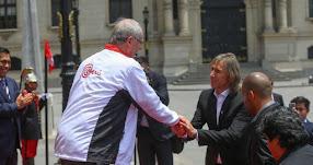 RUSIA 2016: Presidente Kuczynski recibe en Palacio de Gobierno a la selección peruana de fútbol