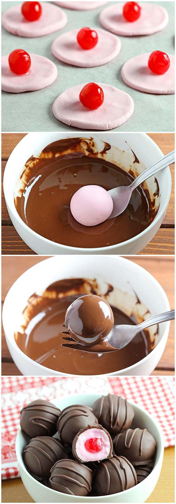 Easy Chocolate Covered Cherries