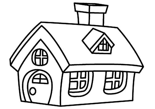 Tranh tô màu ngôi nhà cho bé mầm non