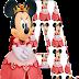 Abecedario de Minnie Princesa de Rosa. Minnie Pink Princes Alphabet.