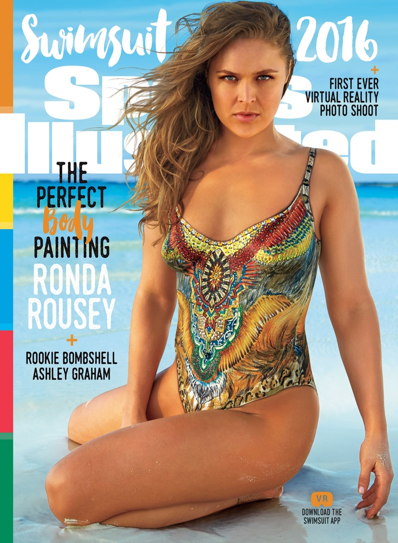Ronda Rousey on Sports Illustrated Swimsuit 2016 Issue Cover