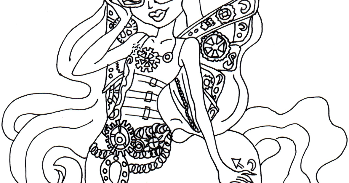 Free Printable Monster High Coloring Pages: Penepole