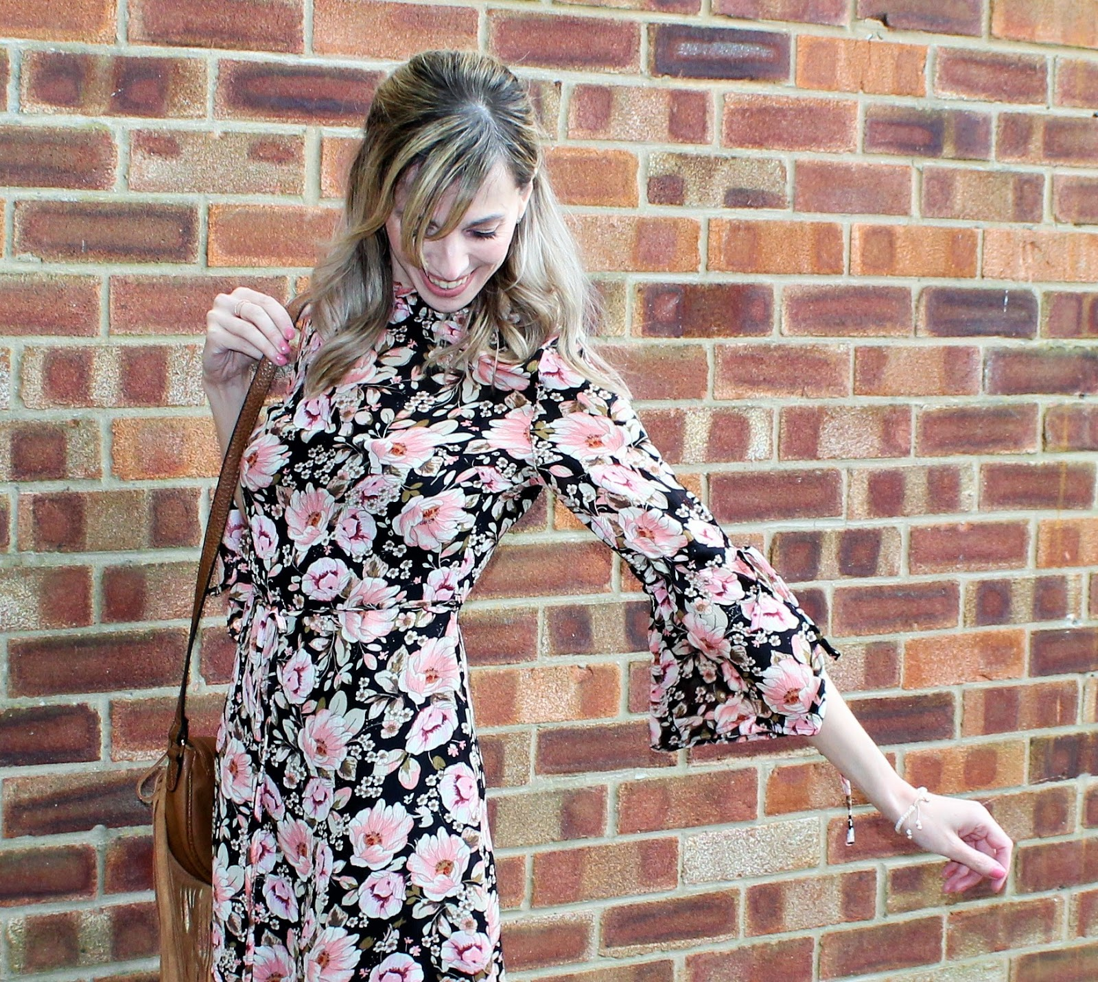 OOTD featuring a floral dress from Topshop and beaded bracelet from Lola Rose - 1